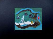 Disney Artist Ralph Hulett Christmas Greeting Card The White Tree, Stunning!!!!!