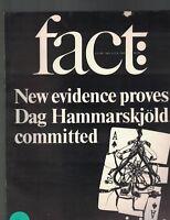Fact Magazine Volume 2 # 2 Dag Hammarskjold Ernest Dichter Sherri Finkbine