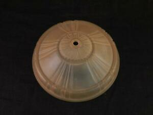 Antique~Vintage c1920 Art Deco Mid Western Bottom or Disk Shade~Slip Shade~VGC