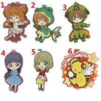 Anime Card Captor Sakura rubber Keychain Key Ring Straps Rare cosplay