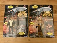 "Khan And Admiral Kirk Playmate Classic 4.5"" Star Trek Action Figures 1995!!"