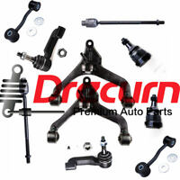 10PC Front Lower Control Arm Ball Joint Tie Rod Sway Link Set For Jeep Liberty