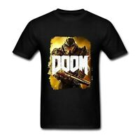 DOOM Video Game Poster T Shirt Novelty Round Neck Short Sleeve Tees