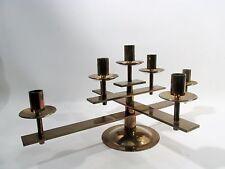 Midcentury DANISH MODERN Brass BRONZE Candelabra CANDELABRUM Denmark Dan Present