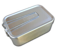 Esee Mess Tin Survival and First Aid Kit Container with Folding Handle and Lid