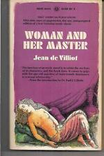 WOMAN AND HER MASTER ~ AWARD BOOKS A316N 1968 1ST JEAN de VILLIOT VICTORIAN ERA
