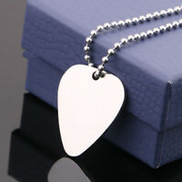 Guitar Pick Silver Necklace Guitar Necklace Neck Picks Guitar Pick With Chain ,R