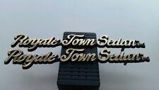 New E&G Classics 2 ROYALE TOWN SEDAN Metal Emblem Cadillac Trim Gold