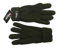 Mens Thinsulate Thermal Fleece Lined Knitted Olive Winter Gloves One Size