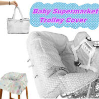 Baby Shopping Trolley Cart Seat Cover Cushion Child High Chair Pad Mat Foldable
