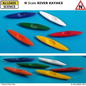 RIVER KAYAKS / Canoes, N Scale, N Gauge, Model Railway Diorama, Scenery, Details