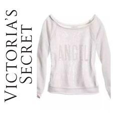 VICTORIA SECRET FASHION SHOW 2013 LIGHT GRAY ANGEL SEQUIN BLING SWEATSHIRT Small