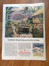 1945 Studebaker Ad Ww Ii Personnel & Cargo Carrier Studebaker Weasels