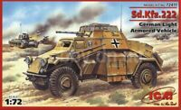 ICM 72411 German Light Armored Vehicle Sd.Kfz.222 1/72 plastic model kit 66 mm