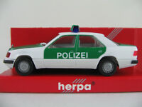"Herpa 041416 Mercedes-Benz 300 E Limousine (1989) ""POLIZEI"" 1:87/H0 NEU/OVP"