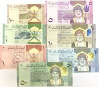 Oman Set 7 Pcs 100 Baisa 1/2 1 5 10 20 50 Rials 2020 / 2021 P New UNC