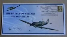 BATTLE OF BRITAIN 63RD ANNIV 2003 COVER SIGNED WW2 PILOT Wg Cdr JACK BEAZLEY DFC