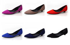 Low (3/4 in. to 1 1/2 in.) Suede Kitten Heels for Women