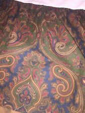 Ralph Lauren Brianna Paisley California King Bed Skirt Bedskirt Dust Ruffle