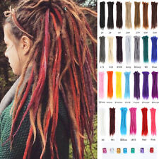 "8PCS 20"" Dreadlocks for Men/Women Handmade Dreads Locs Braiding Hair Extensions"