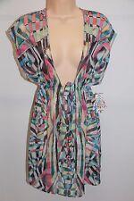 488e3ea43a NWT BECCA Bikini Swimwear Swimsuit Cover up Dress Tunic Size M L Multi