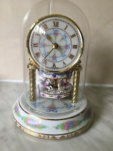 Franklin Mint Rotating Carousel Anniversary Clock