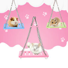 Pet Wood Swing Hammock Toy Hamster Mouse  Bird Parrot Cage Hanging Suspens Uskt