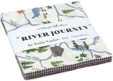 """River Journey Moda Charm Pack 42 100% Cotton 5"""" Precut Quilt Squares"""