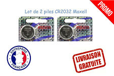 PROMO !! Lot de 2 piles boutons CR2032 MAXELL 3V Lithium qualité professionnelle
