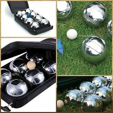 New 8 Ball Bocce / Boule / Petanque Ball Set with Carry Bag- 4 Patterns/4Teams