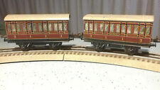 2 wagons Voyageurs  Hornby  Liverpool 1950 compatible Marklin Bing jep