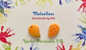 Mango studs Melvellous earrings polymer clay