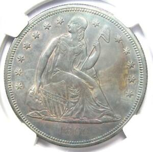 1860-O Seated Liberty Silver Dollar $1 - NGC Uncirculated Detail (UNC MS) - Rare