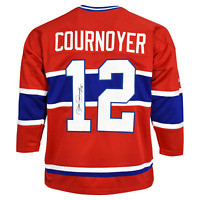 Yvan Cournoyer Signed Montreal Red Hockey Jersey (JSA)