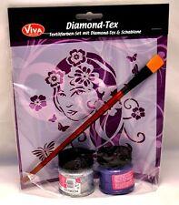 Diamond TexSet Frauenkopf Viva Decor Schablone Pinsel Textilfarbe Shirts bemalen