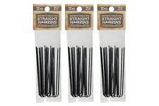 """Amish Made Straight Heavy Duty  2 1/2 """" Stainless Steel Hairpins  3 PACKS"""
