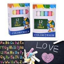 12crayons craie dessin à la craie pour le tableau de l'école 6 couleurs fixes hq