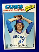 1977 Topps Baseball BRUCE SUTTER Rookie Card #144 CHICAGO CUBS HOF RC