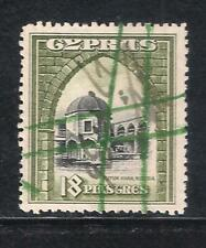 CYPRUS KGV 1934 SG142 18pi USED REVENUE FISCAL DUTY STAMP VERY FINE CONDITION(B)