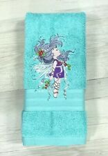 Kids Hand Towel Embroidered Childrens Birthday Bathroom Gift Fairy Christmas