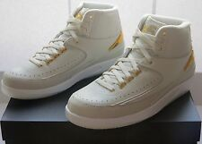 Nike Air Jordan II 2 retro quai 54 Bone oro EUR 42 UK 7,5 nuevo cartón New