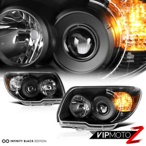 For 06-09 Toyota 4Runner 4 Runner [TRD STYLE] Crystal Black Headlights Assembly