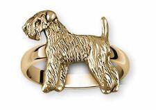 Soft Coated Wheaten Terrier Jewelry 14k Gold Handmade Wheaten Ring Xscw121X-Rg