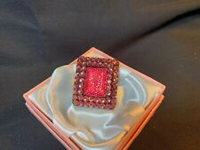 Pretty Bold Costume Jewelry Sizable PINK BLING Fashion Ring