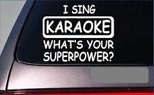 """Karaoke Superpower Sticker *G419* 8"""" Vinyl Decal microphone machine sing"""