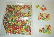VINTAGE 1980'S CURRENT & HALLMARK GUMDROP CANDY NOTE CARDS & GIFT WRAP PAPER