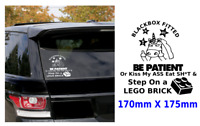 1X BLACK BOX FITTED FUNNY CAR Stickers YOUNG DRIVER BUMPER VINYL**