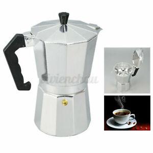 Aluminum Italian Moka Espresso Coffee Maker Percolator Stove Top Pot 3/6/9/12Cup