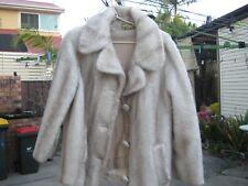 Vintage 50s Faux Fur Coat Overcoat Womens 12 ssw designer mink imitation