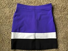 ABACUS ELM Purple Black & White Golf  SKORT sz 6 Golf/Casual skirt/shorts  B7